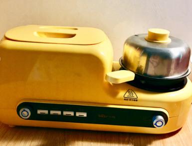 小熊面包机好用吗?可以一遍煎一边烤?