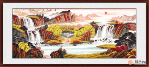 客厅沙发背景墙挂画挂什么好 浅论聚宝盆山水画的风水作用
