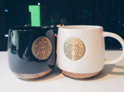 星巴克人鱼铜章马克杯可以喝茶么?礼盒装多少钱?