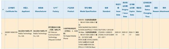 努比亚红魔5G游戏手机通过3C认证:配备55W快充