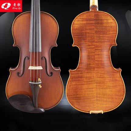 青歌QV204 考级小提琴 实木儿童入门初学手工演奏小提琴1/2/3/4