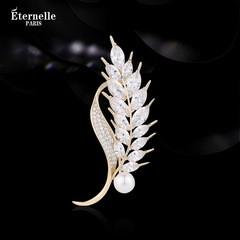 法国Eternelle璀璨麦穗胸针女气质 秋冬服装配饰新款胸花高档饰品