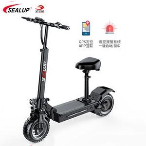 希洛普 越野电动滑板车两轮迷你代步车11寸真空胎 坐骑折叠电动车